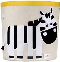Корзина 3 Sprouts Черно-белая зебра / 67571 -