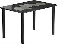 Обеденный стол Васанти Плюс ПРФ 120x80 (черный/53) -