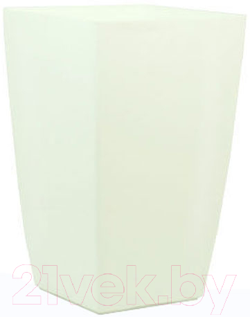Купить Кашпо BigPlast, Diva Square 32324 (белый), Китай, пластик