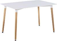 Обеденный стол Atreve Niki 120x80 (белый/бук) -