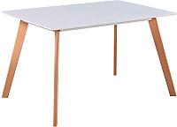 Обеденный стол Atreve Nordic (белый/дуб) -