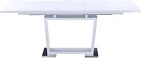 Обеденный стол Atreve Rosa 160x90 (белый/хром) -