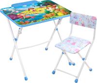 Комплект мебели с детским столом Ника КУ2/16 Волшебный мир принцесс -