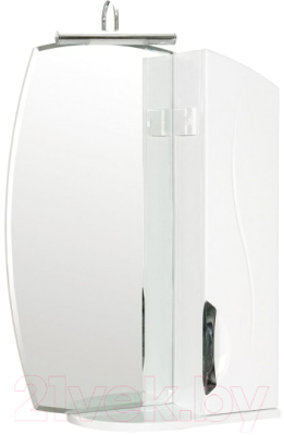 Шкаф с зеркалом для ванной Аква Родос Глория Галерея 55 GLZR55 / 000000069