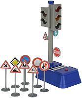 Развивающий игровой набор Dickie Светофор и набор дорожных знаков / 203741001 -