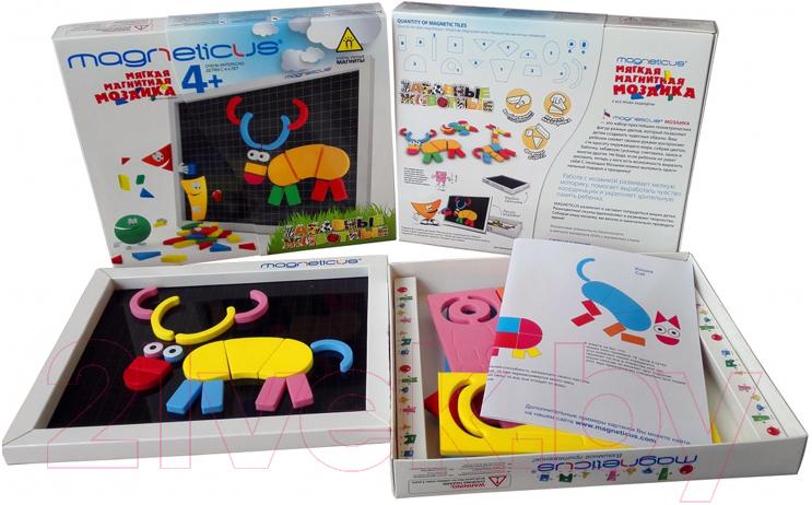 Купить Развивающая игрушка Magneticus, Мозаика. Забавные животные / MA-060, Россия, вспененный полимер