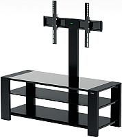 Стойка для ТВ/аппаратуры Alteza TV-32110 (черный матовый/черное стекло) -