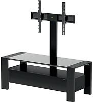 Стойка для ТВ/аппаратуры Alteza TV-34110 (черный матовый/черное стекло) -