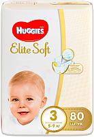 Подгузники Huggies Elite Soft 3 Mega (80шт) -