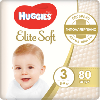 Подгузники детские Huggies Elite Soft 3 Mega (80шт) -
