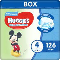 Подгузники детские Huggies Ultra Comfort 4 Disney Boy (126шт) -