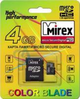 Карта памяти Mirex microSDHC (Class 4) 4GB (13613-ADTMSD04) -