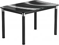 Обеденный стол Васанти Плюс Классик 110/158x70/ОЧ (черный/56) -