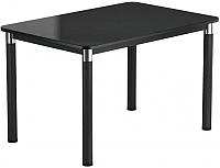 Обеденный стол Васанти Плюс Классик 110/158x70/ОЧ (черный/черный) -