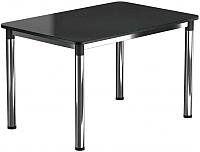 Обеденный стол Васанти Плюс Классик 110/158x70/ОХ (хром/черный) -