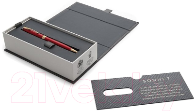 Ручка шариковая Parker Sonnet Slim Lacquer Intense Red GT 1931477
