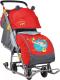 Санки-коляска Ника Детям НД7 (девочка и слон, красный) -