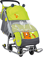 Санки-коляска Ника Детям НД7 (тигр, лимонный) -