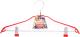 Вешалка-плечики Podari JMR 002 с клипсами (красный) -