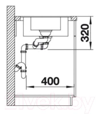 Мойка кухонная Blanco Metra 6-F / 519135