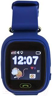 Умные часы детские Smart Baby Watch Q80 (темно-синий)
