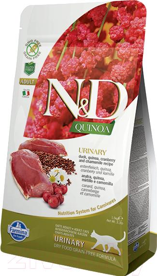 Купить Корм для кошек Farmina, N&D Grain Free Quinoa Urinary Duck, Cranberry Adult (1.5кг), Италия