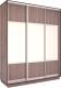 Шкаф Евва 176TS.01 / АЭП ШК.3 03 (трюфель/серебро) -
