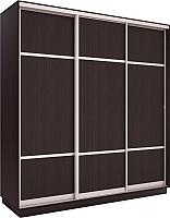 Шкаф Евва 176 VS.03 / АЭП ШК.3.03 (венге/серебро) -