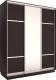 Шкаф Евва 176 VS.02 / АЭП ШК.3 03 (венге/серебристый) -