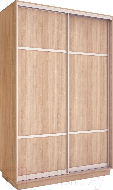 Купить Шкаф Евва, 138 SS.03 / АЭП ШК.2 02 (сонома/серебро), Беларусь