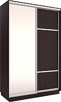 Шкаф Евва 138 VS.02 / АЭП ШК.2 02 (венге/серебро) -