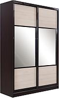 Шкаф Евва 124 VHG.01 / АЭП ШК.2 03 (венге/шамони/венге глянец) -
