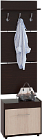 Секция в прихожую Сокол-Мебель ВШ-5.1+ТП-6 (венге/беленый дуб) -