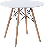 Обеденный стол Atreve Niki III d80 (белый/бук) -