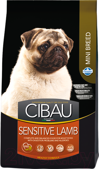 Купить Корм для собак Farmina, Cibau Sensitive Lamb Mini (2.5кг), Италия