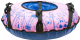 Тюбинг-ватрушка Тяни-Толкай 650мм Город розовый (тент, Норм) -