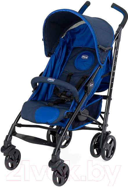 Купить Детская прогулочная коляска Chicco, Lite Way Top (синий/темно-синий), Китай
