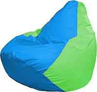 Бескаркасное кресло Flagman Груша Мини Г0.1-276 (голубой/салатовый) -
