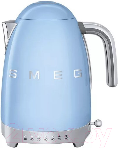 Купить Электрочайник Smeg, KLF04PBEU, Китай, голубой