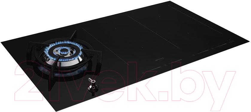 Купить Комбинированная варочная панель Smeg, PM3912WLD, Италия