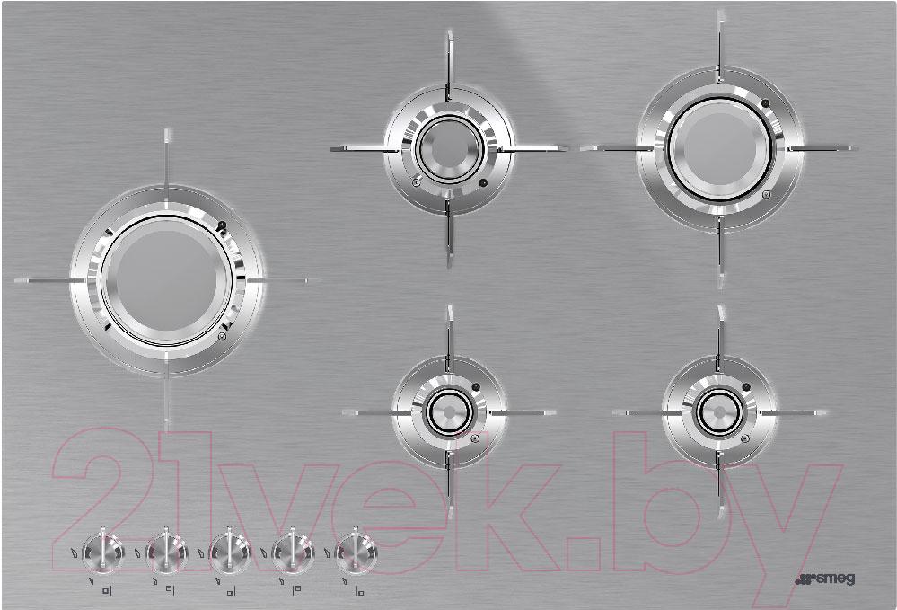 Купить Газовая варочная панель Smeg, PXL675L, Италия
