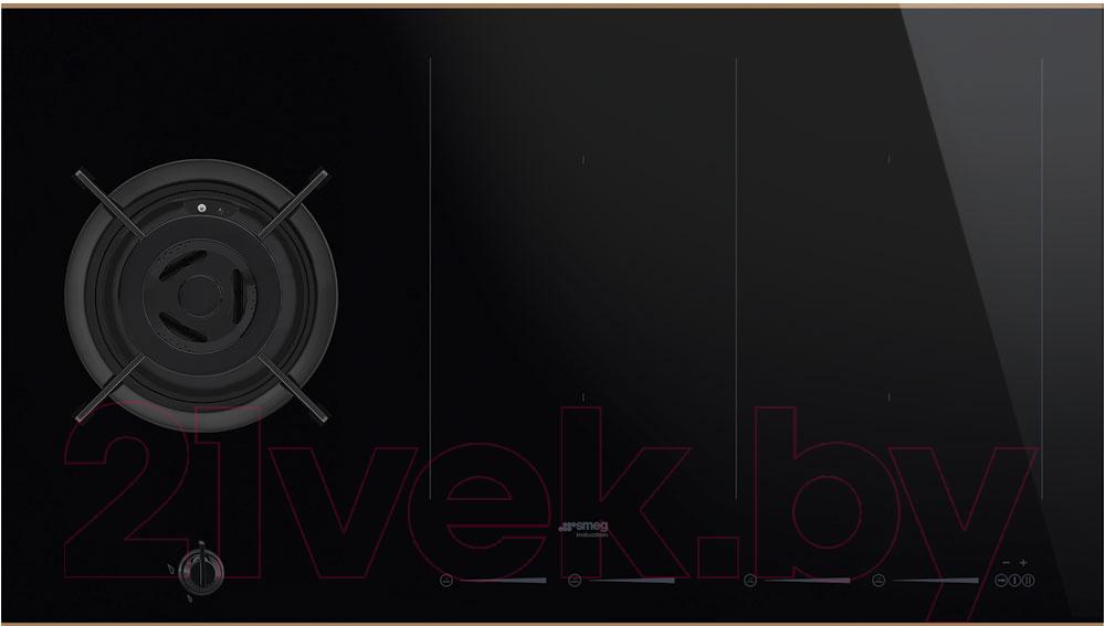 Купить Комбинированная варочная панель Smeg, PM6912WLDR, Италия