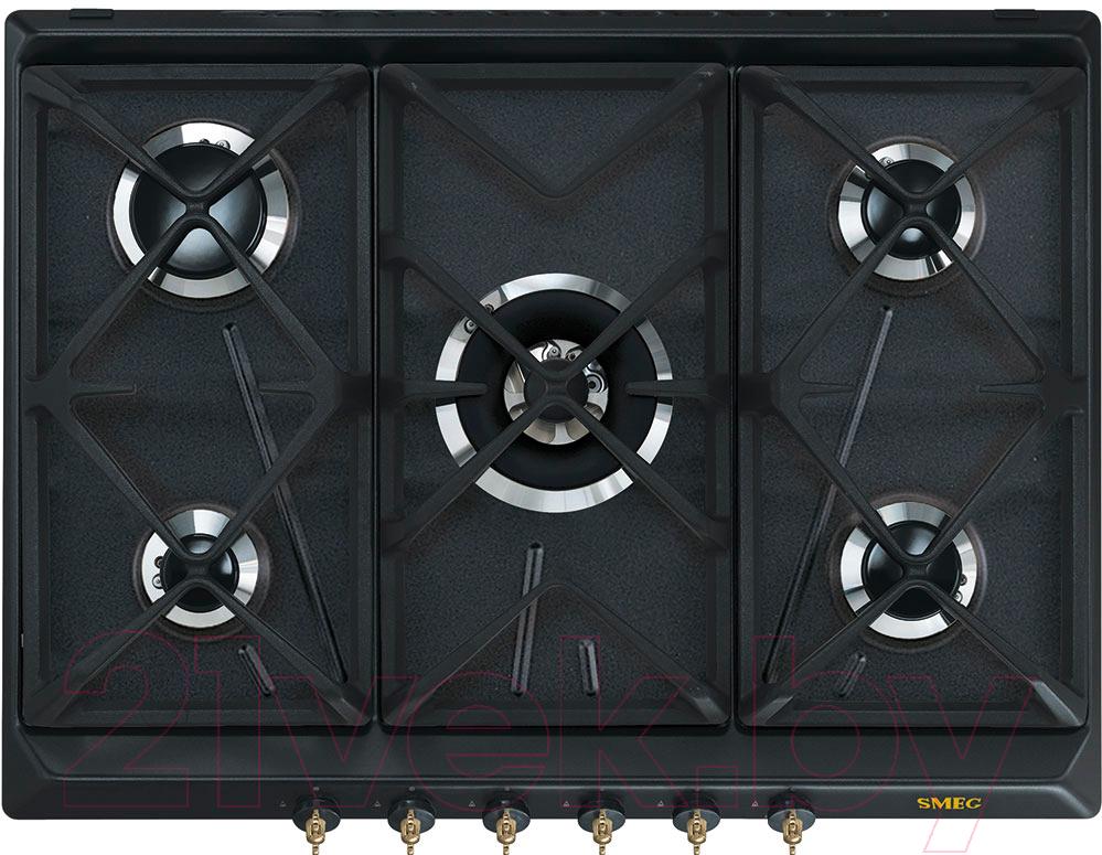 Купить Газовая варочная панель Smeg, SRV876AOGH, Италия