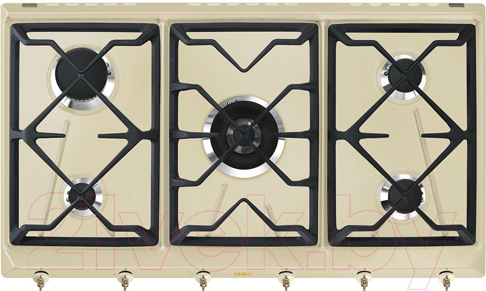 Купить Газовая варочная панель Smeg, SRV896POGH, Италия