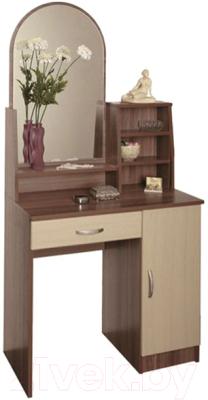 Туалетный столик с зеркалом Олмеко Надежда-М09 (шимо светлый/шимо темный)