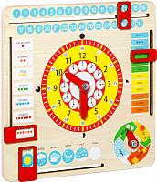 Развивающая игрушка Мастер Вуд Часы и календарь KD2 -