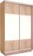 Шкаф Евва 120 SS.01 / АЭП ШК.2 03 (сонома/серебро) -