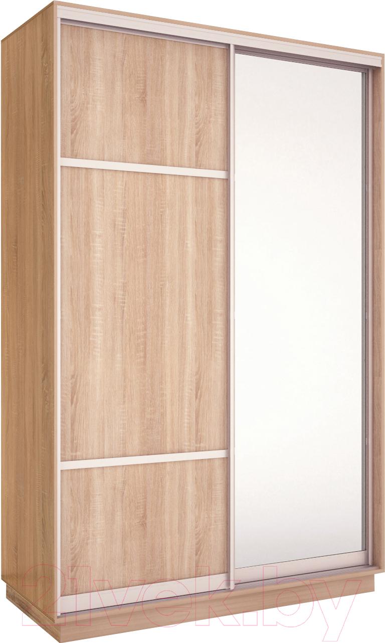 Купить Шкаф Евва, 120 SS.02 / АЭП ШК.2 03 (сонома/серебро), Беларусь