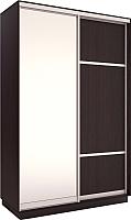 Шкаф Евва 120 VS.02 / АЭП ШК.2 03 (венге/серебро) -