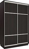 Шкаф Евва 120 VS.03 / АЭП ШК.2 03 (венге/серебро) -